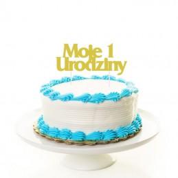 """TOPPER ZŁOTY NA TORT """"MOJE..."""