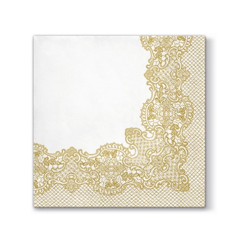 0b2a72a26027d1 Serwetki z nadrukiem złotej koronki to bardzo efektowny dodatek dekoracyjny  stołu.