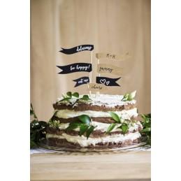TOPPER - FLAGIETKI NA TORT...